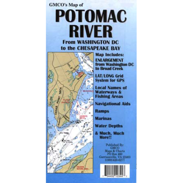 Potomac River Laminated Gmco Maps
