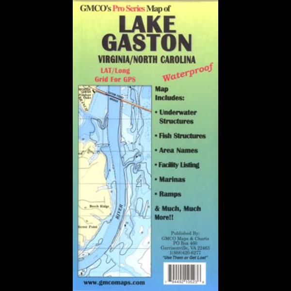 Lake gaston pro series gmco maps for Lake gaston fishing