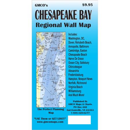 Chesapeake Bay Region Wall Map – GMCO Maps on