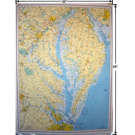 Chesapeake Bay Laminated Wall Map – GMCO Maps on