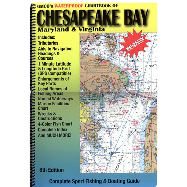 Chesapeake Bay Waterproof Chartbook 8th Edition – GMCO Maps