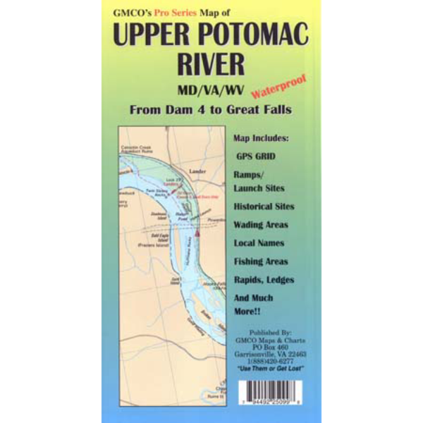 Upper potomac river pro series gmco maps for Potomac river fishing