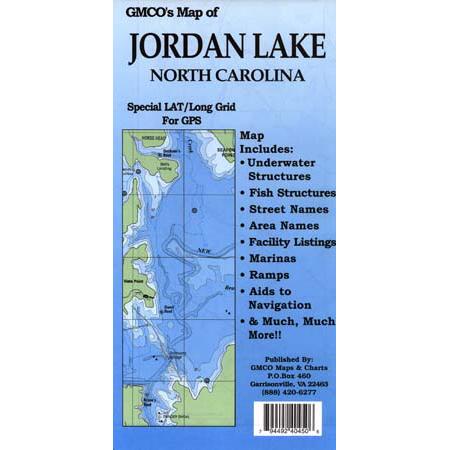 Jordan Lake Laminated Gmco Maps