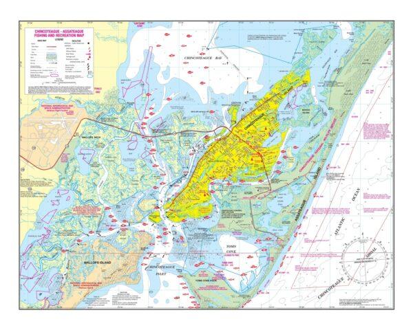 Chincoteague/Assateague Fishing and Recreation Map